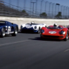 Ford and Ferrari race cars