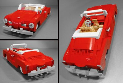 Volkswagen VW Karmann Ghia LEGO set classic car model Vibor Cavor interior