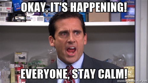 stay calm the office