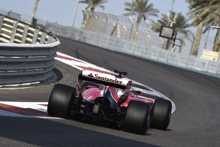 Kimi Räikkönen tests the 2017 F1 tires