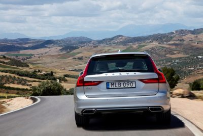 The 2018 Volvo V90 Wagon was the star of Volvo's display at the 2017 North American International Auto Show