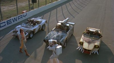 Death Race 2000 Cars at Starting Position Roger Corman movie
