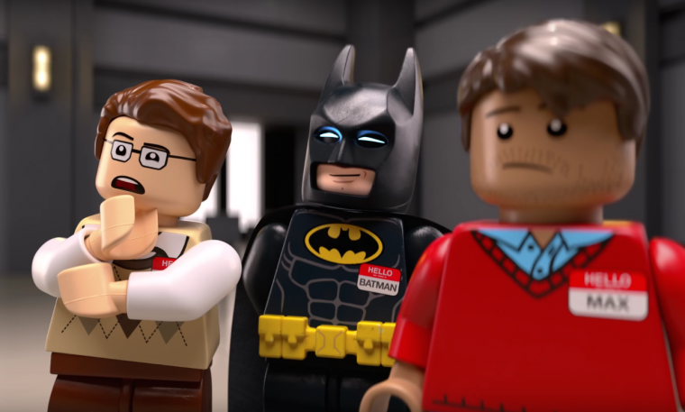 """Chevy commercial featuring """"Real LEGO Minifigures, Not Actors"""" to promote Chevrolet LEGO Batmobile and The LEGO Batman Movie"""