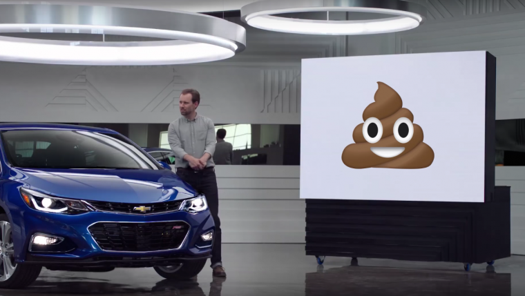 Chevy emoji Real People Not Actors commercial parody