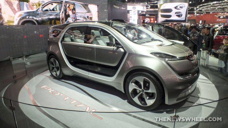 The Chrysler Portal Concept was the star of FCA's display at the 2017 Detroit Auto Show