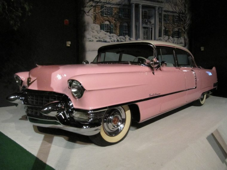 Would you have ever guessed that Elvis Presley drove a pink Cadillac?