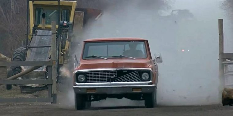 Groundhog Day movie cars Chevrolet truck chase scene