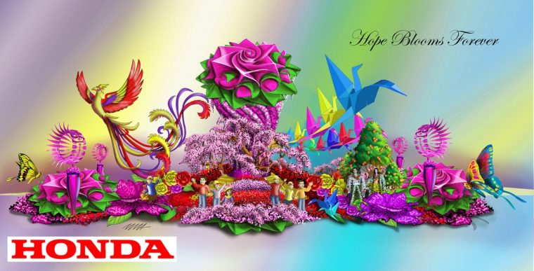 """Honda's """"Hope Blooms Forever"""" float will lead the 2017 Rose Parade"""