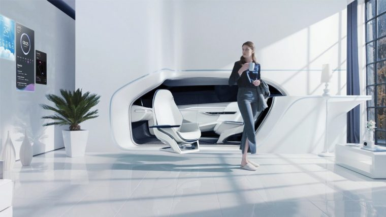 Hyundai Mobility Vision Smart House connected car room at CES