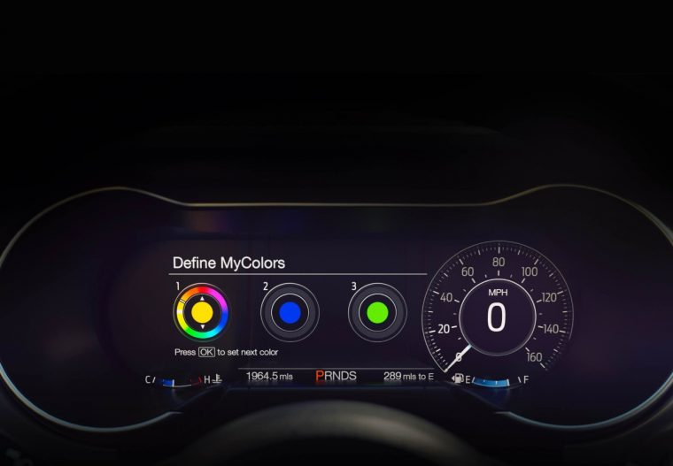 2018 Ford Mustang information display