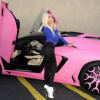 Would you have ever guessed that Nicki Minaj drives a bright pink Lamborghini?