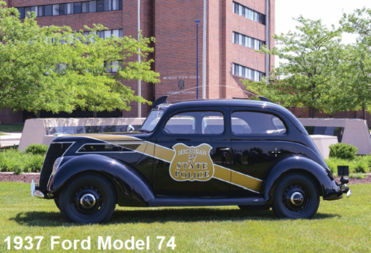 The inspiration for the special edition Chargers: The 1937 Ford Model 74Photo:Michigan State Police
