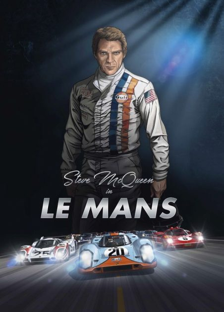 Steve McQueen in Le Mans graphic novel book cover