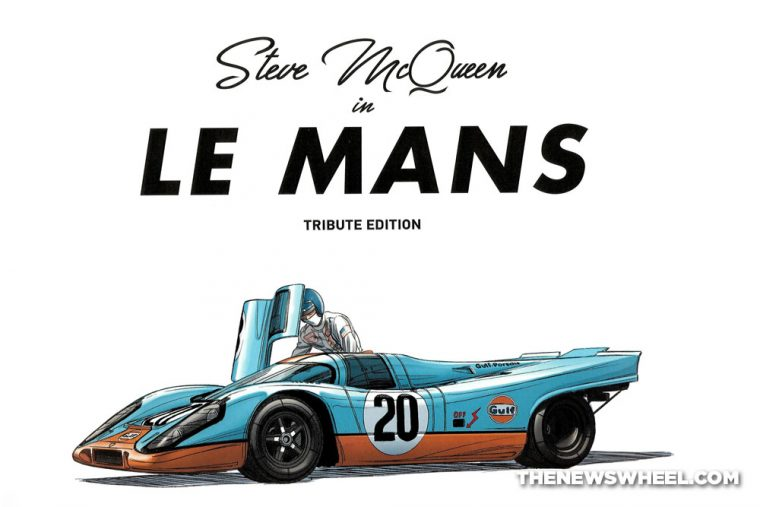 Steve McQueen in Le Mans graphic novel comic book review Garbo Studios title pages
