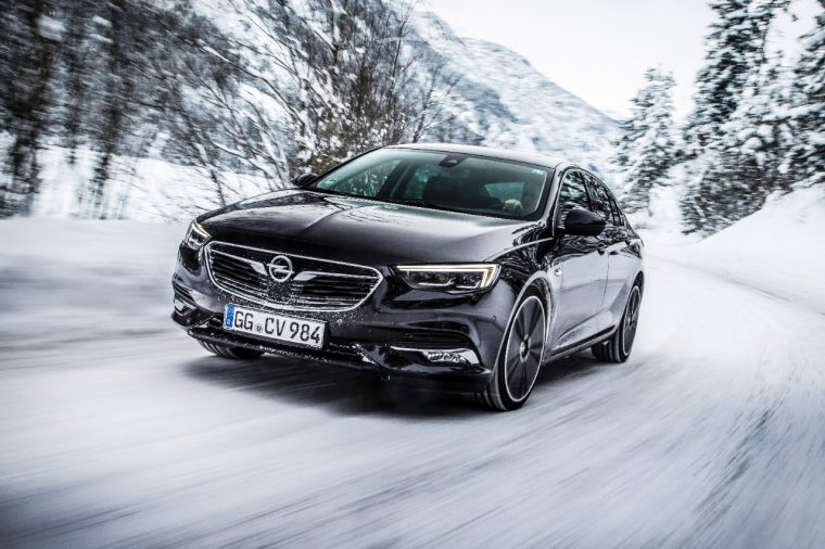 The all-new Opel Insignia Grand Sport 4x4 features a torque vectoring all-wheel-drive system
