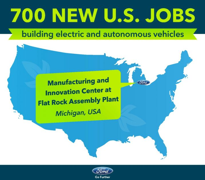 Ford infographic new jobs at Flat Rock Assembly Plant