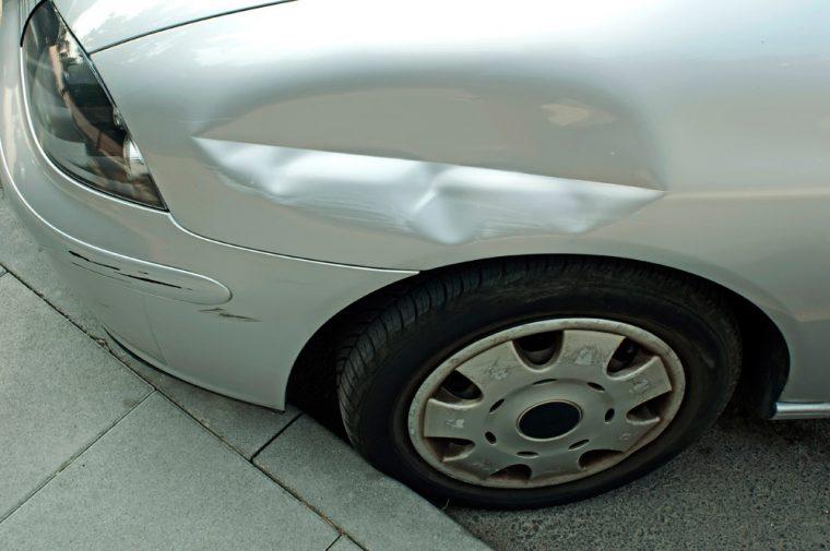vehicle car dent damage accident scratch fender body