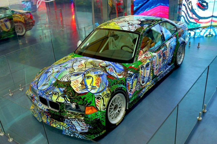 The 13th BMW Art Car, designed by artist Sandro Chia