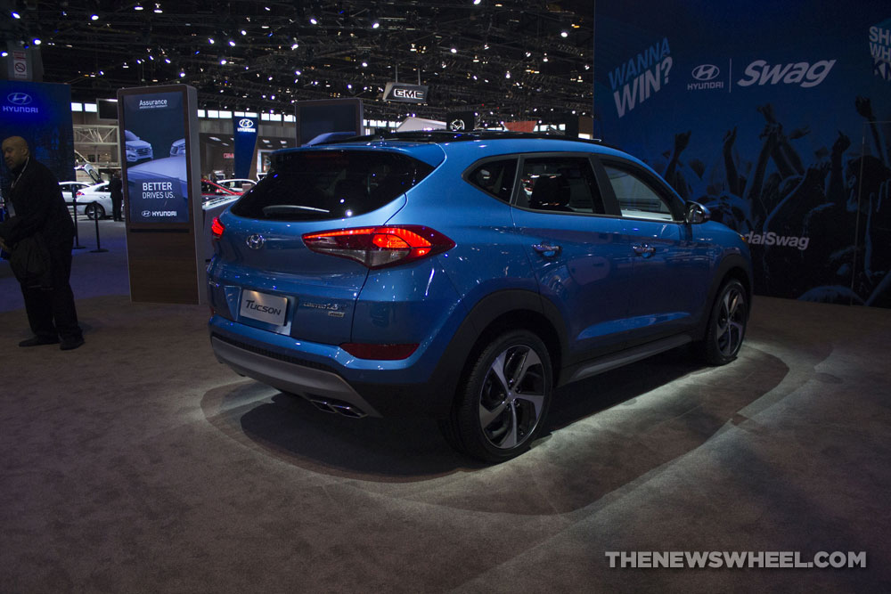 2017 Hyundai Tucson Limited 1.6T SUV at Chicago Auto Show display