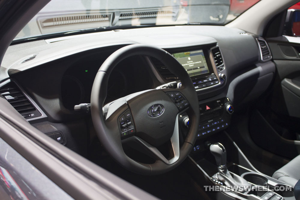 2017 Hyundai Tucson Limited 1.6T SUV at Chicago Auto Show dashboard