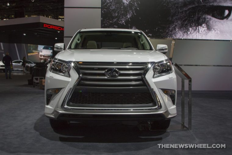 2017 Lexus GS white SUV on display Chicago Auto Show