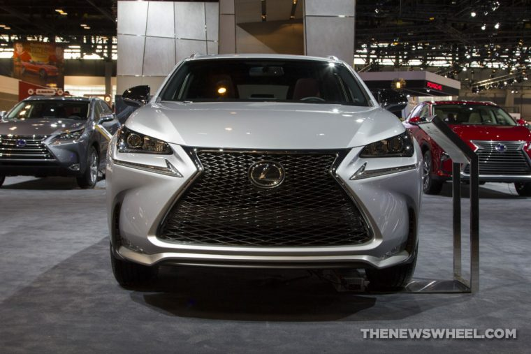2017 Lexus NX Turbo F Sport silver SUV on display Chicago Auto Show