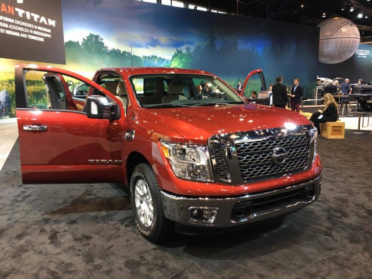 2017 Nissan Titan King Cab pickup Truck at Chicago Auto Show on display