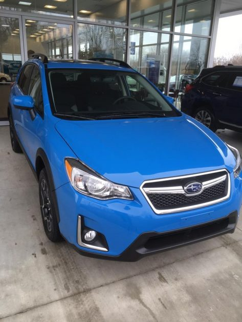2017 subaru crosstrek in hyper blue