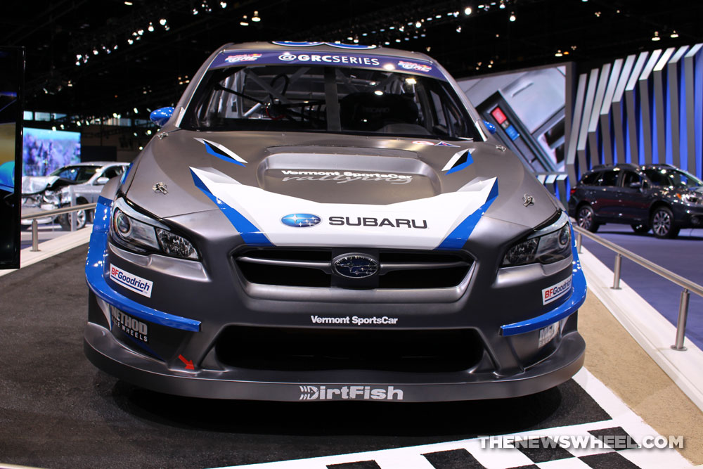 2017 Subaru WRX Rally gray sedan car on display Chicago Auto Show