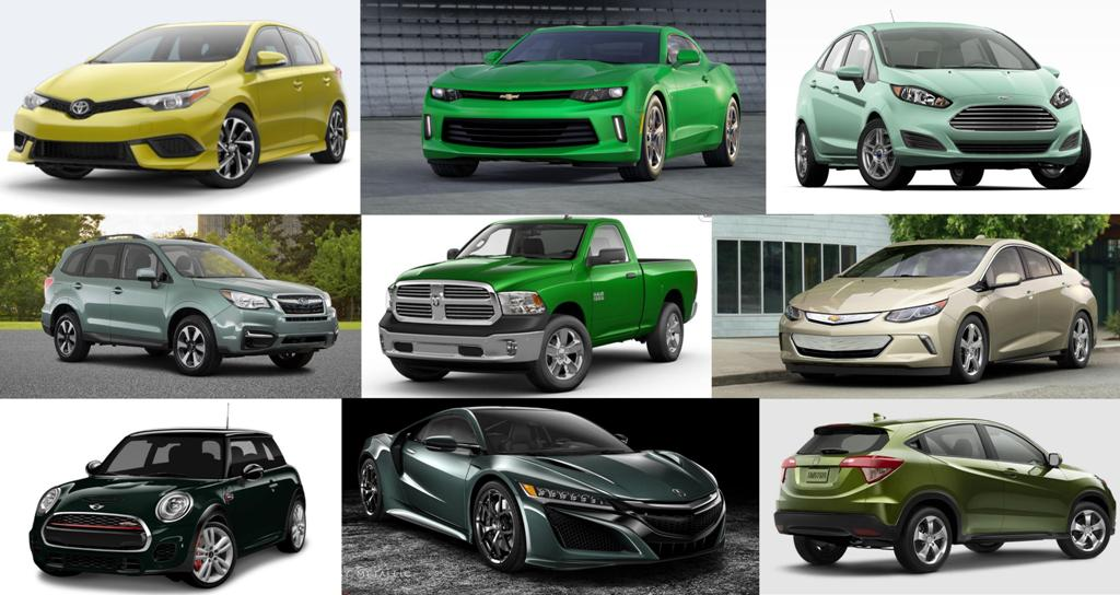 Cool Car Colors Which 2017 Models Are Available In Green The News Wheel