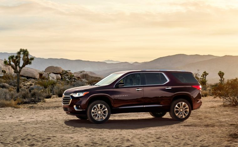 The 2018 Chevrolet Traverse is one of the new models that GM will be displaying at the 2017 Chicago Auto Show