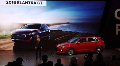 2018 Hyundai Elantra GT on display at Canadian Auto Show new car