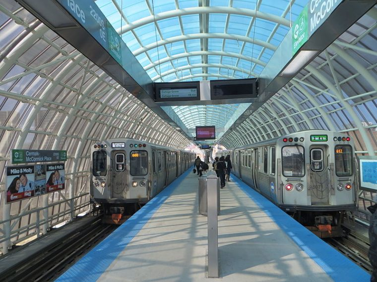 There's even a train station located right next to the Chicago Auto Show Photo: David Wilson