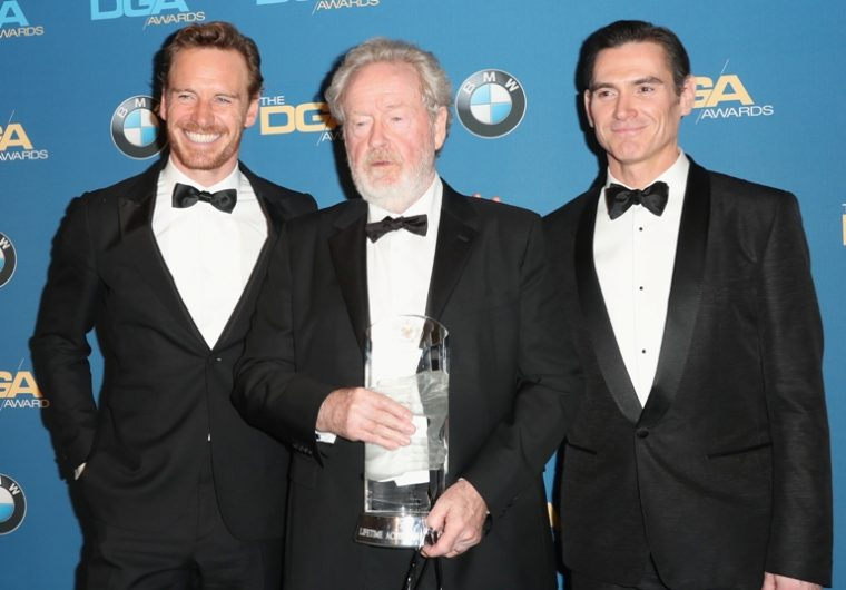 Sir Ridley Scott, along with actors Michael Fassbender and Billy Crudup