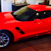 Dale Earnhardt Jr. got a new red Corvette Grand Sport that he just tweeted a picture of