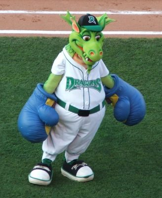 Dayton Dragon mascot Heater and Gem will be at the 2017 Dayton Auto Show