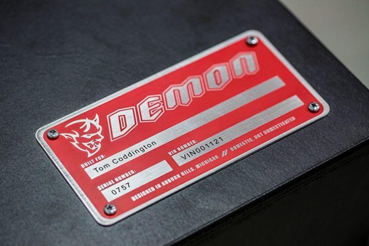 dodge demon badge design name