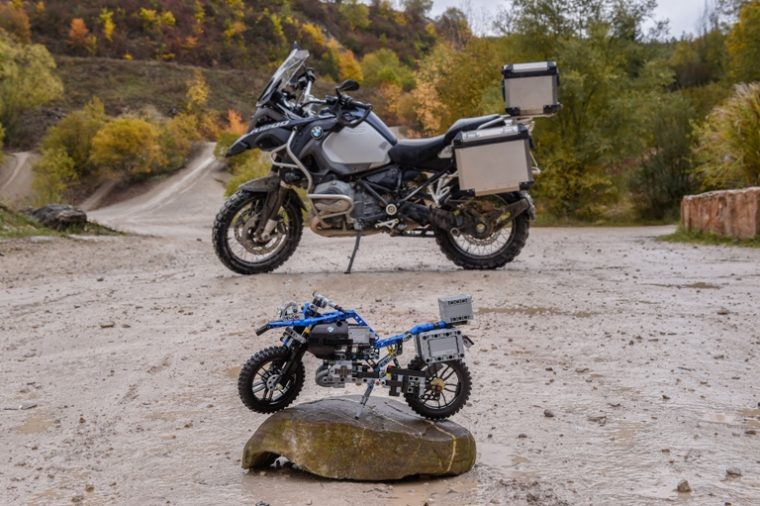 The BMW R 1200 GS Adventure with its LEGO counterpart
