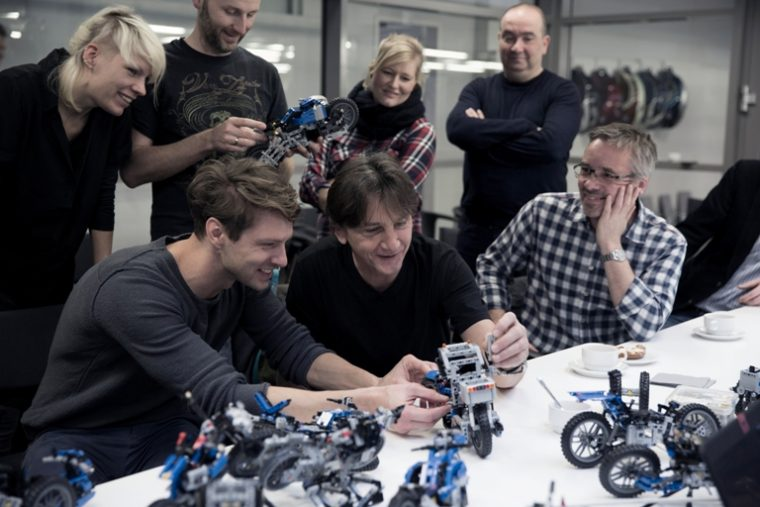 The teams from LEGO and BMW working together to develop the kit's alternate model