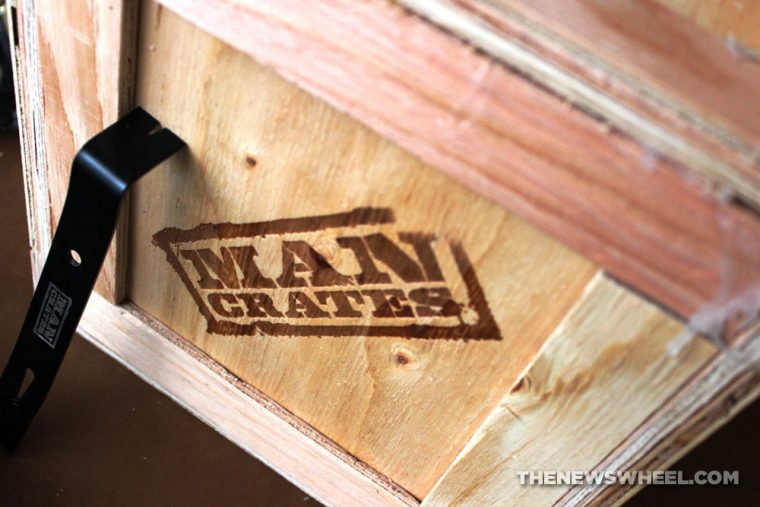 Man Crates NASCAR Barware Crate Review Unboxing contents Dale Earnhardt Jr wood package