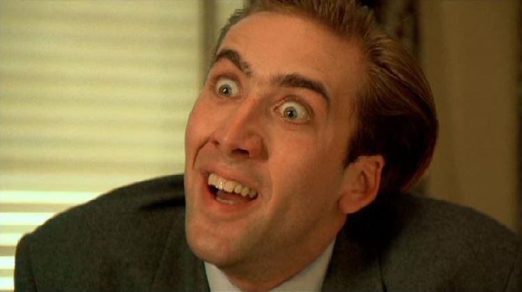 Nicolas Cage crazy face