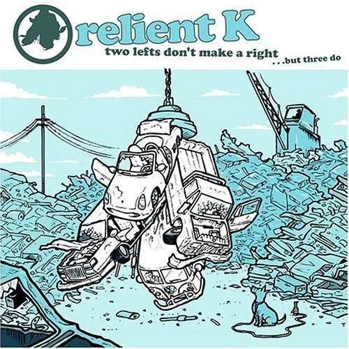 Relient K Two Lefts album cover music band car