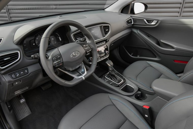 2017 Hyundai Ioniq hybrid car EV overview model information pictures interior