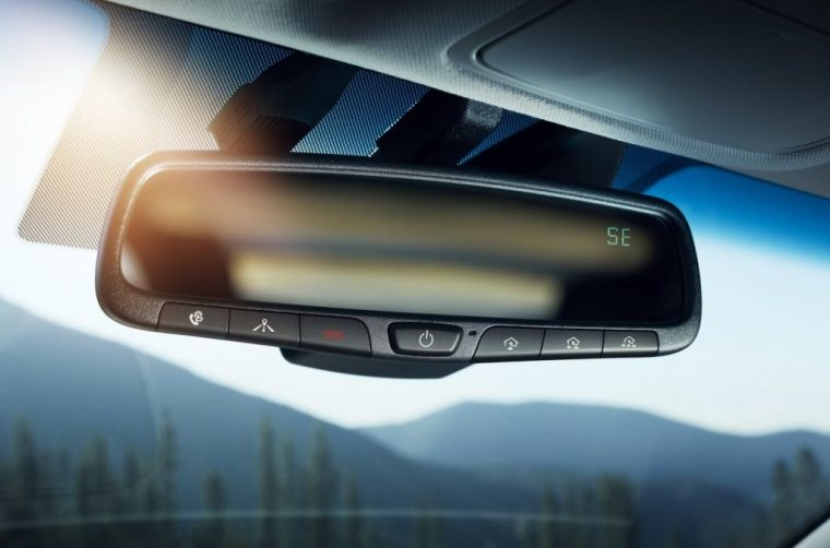 2017 Hyundai Ioniq hybrid car EV overview model information pictures rear view mirror safety