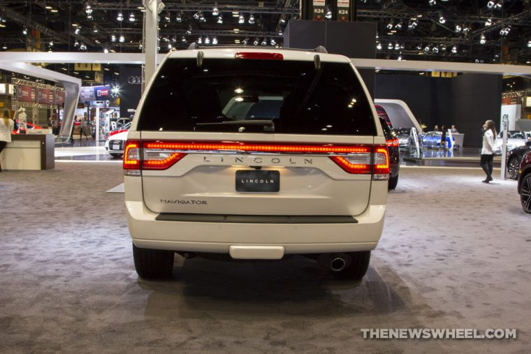 The 2017 Lincoln Navigator can seat up to eight passengers and tow 9,000 pounds
