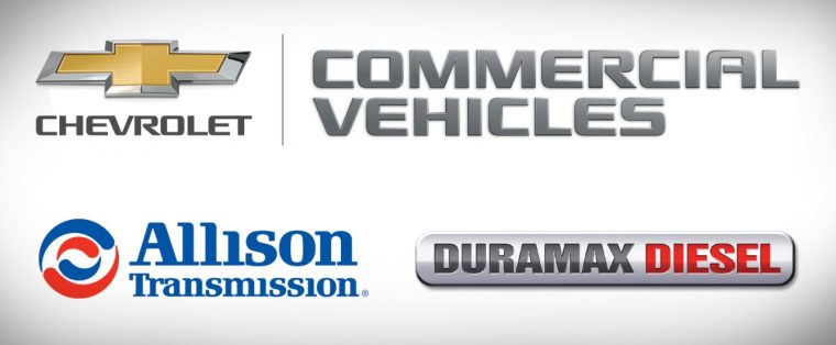 Chevy Commercial vehicles powered by Duramax Diesel and Allison Transmission
