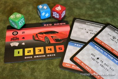 Dice Drivin car racing board game review Vorpalia action turn