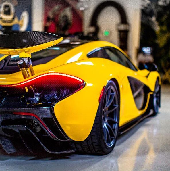 Jay Leno McLaren P1 Yellow