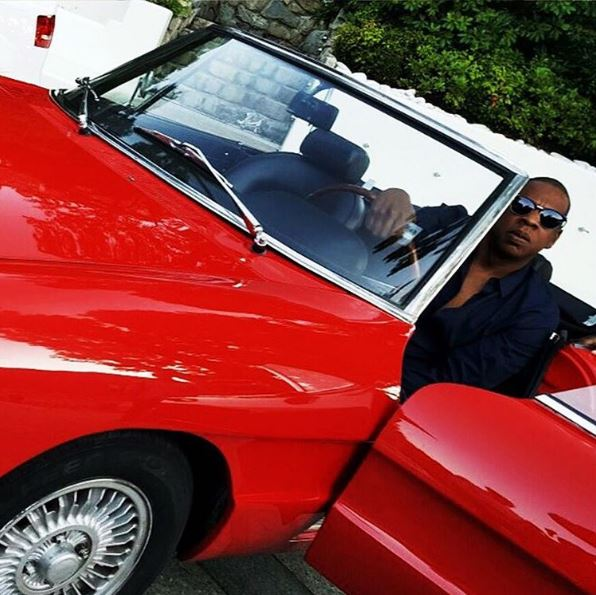 Jay Z Beyonce Alfa Romeo Spider Red Convertible