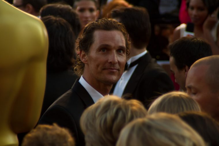 Matthew McConaughey at the New York Auto Show